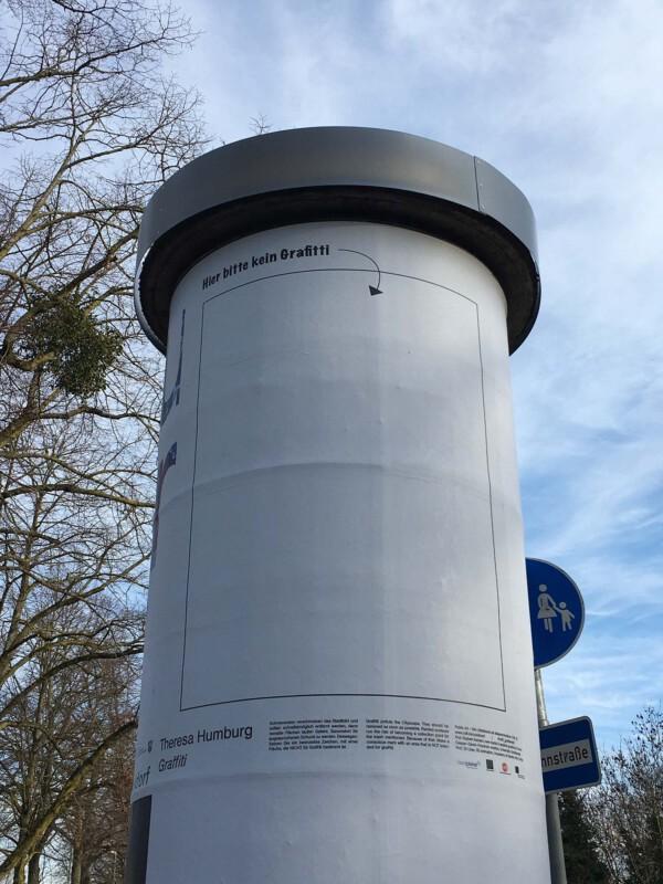 Public Art - Litfasssäule als Massenmedium - Theresa Humburg - Graffiti