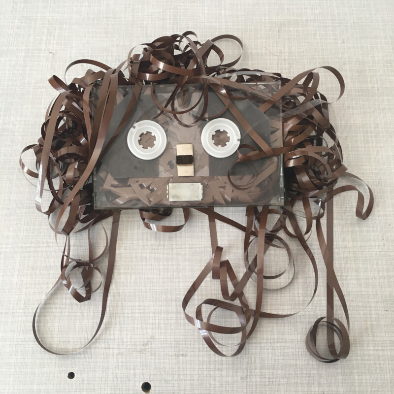 Face Time - Cassette Tape Collage