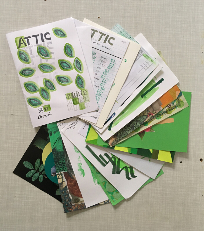 Attic Zine No 9 - Green 2 - all together