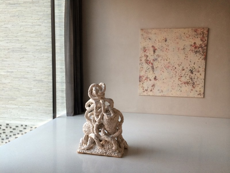 Heinz Breloh - Terrakotta-Skulptur Der Tod und das Mädchen / Jürgen Paatz Gemälde 1998