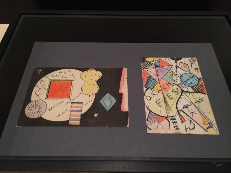 Oskar Schlemmer  Postkarte zum Drachenfest und zum Laternenfest 1921/22 Bauhaus Drucksachen