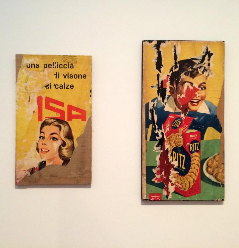 Mimmo Rotella - Und pelliccia di visone (links) 1958 - Ritz (rechts) 1963