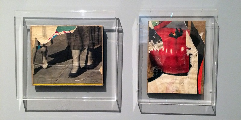 Mimmo Rotella - (left) A piedi con la bambina - 1961 (right) Per l´insalata - 1961