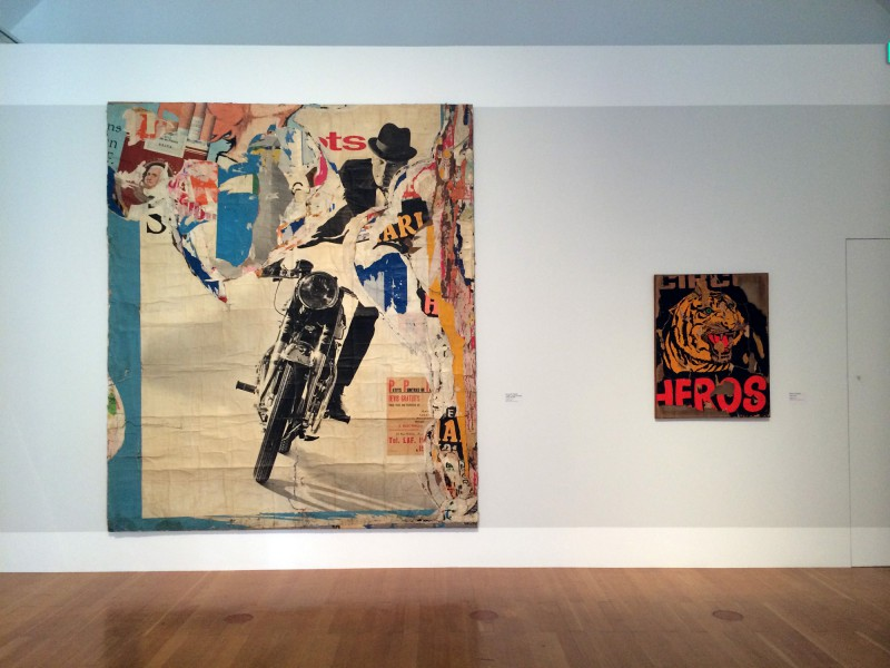 (left) Jacques Villeglé - La Moto - Avenue Ledru-Rollin 17 juillet 1965 - (right) Mimmo Rotella - La tigre - 1962 (2)