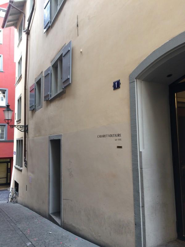 Cabaret Voltaire Spiegelgasse 1 Zurich