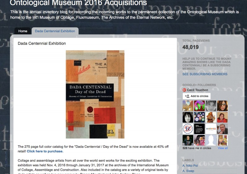 Publication: Dada Centennial - Day of the Dead - Ontological Museum - by Cecil Touchon