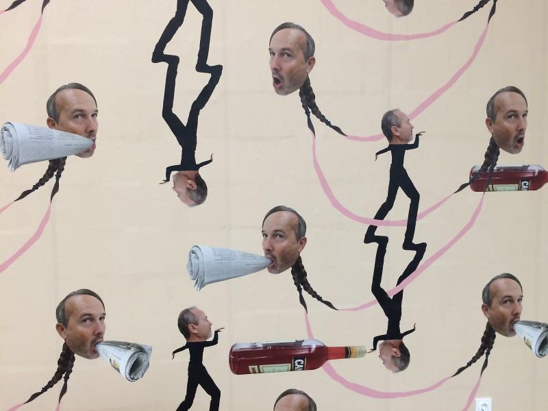 Erwin Wurm - Wandinstallation (Wall installation) -  Lehmbruck Museum Duisburg