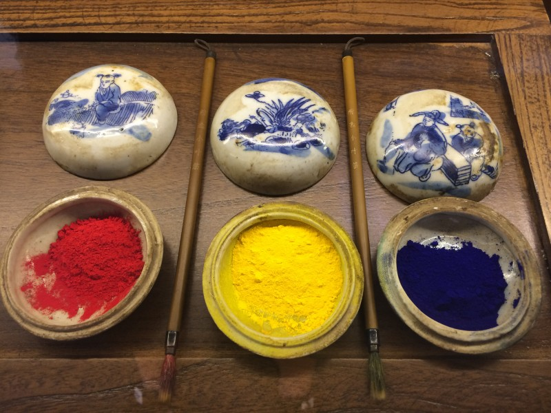 Arbeitsmaterial Pigmente / Tool: Pigments