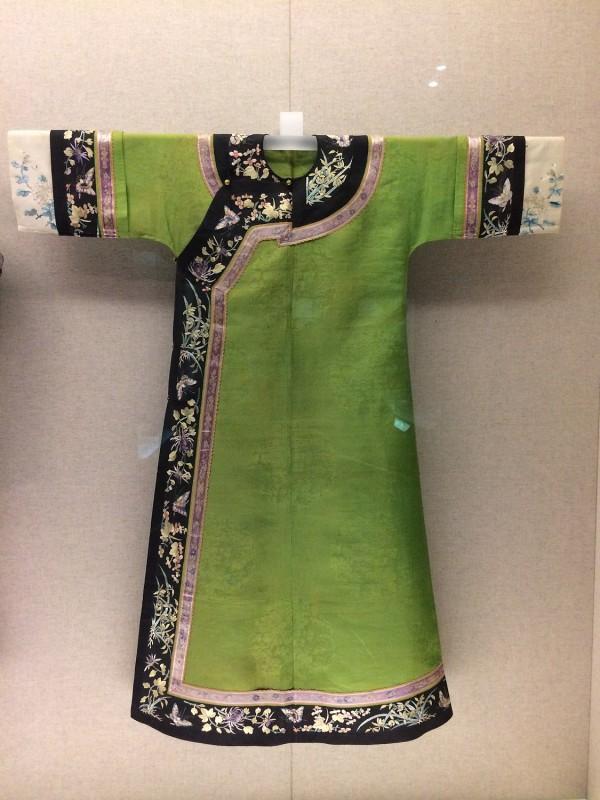 Green gauze cheongsam - Manchu - Qing (1644 - 1911)