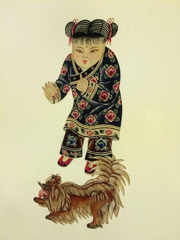 Schattenspielfigur Ausschnitt  / Shadow theater puppets detail
