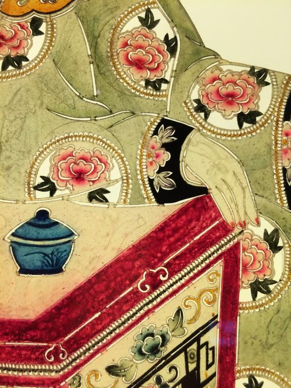 Schattenspielfigur Detail  / Shadow theater puppets detail