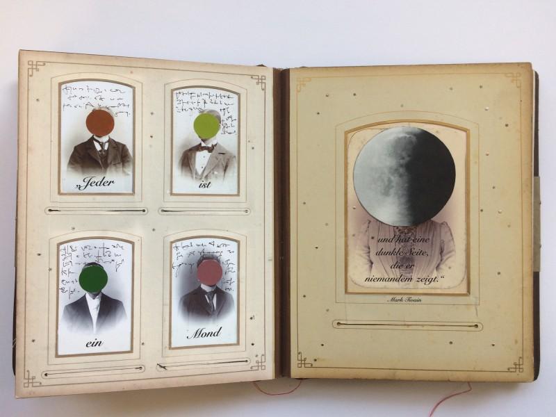 Ein Buch über des Lebens Leid und Freud auf dem Weg zu dem unendlichen Ziel<br>7. Doppelseite<br>A book about life's sorrow and joy  on the way to the endless aim - 7. double page -