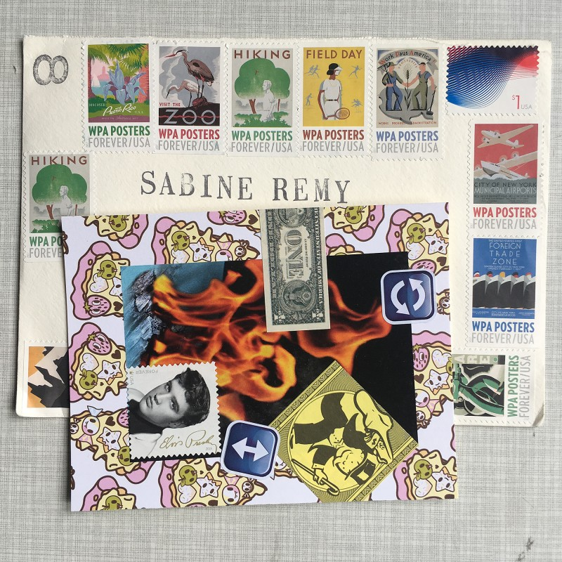 Mail Art form Stan Askew May 2018 a