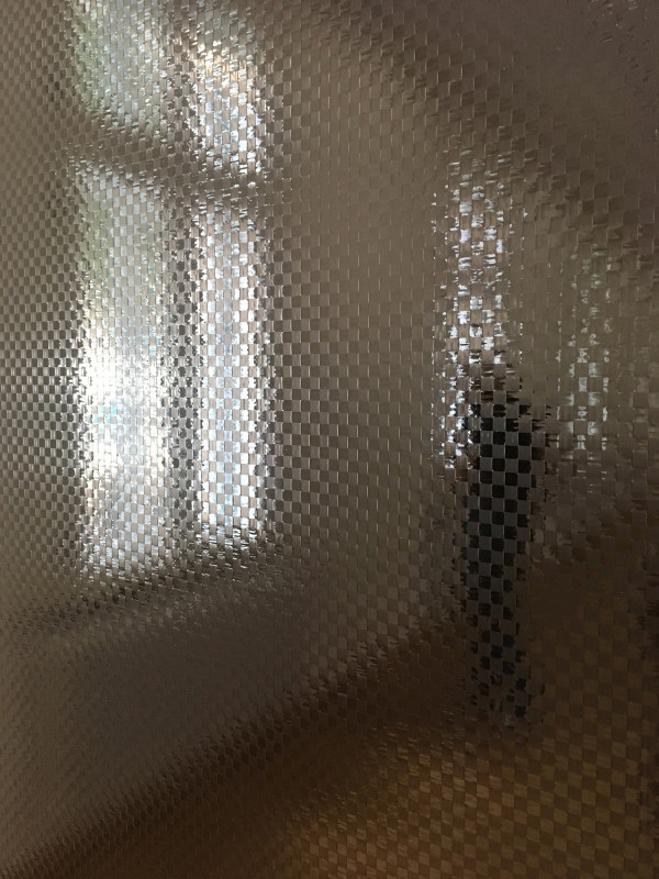 Gregor Hildebrandt - ab in die Fabrik (Malaria) (Detail)- 2018 - Kassettenband auf Leinwand - Detail  - im Kunstmuseum Gelsenkirchen<br>Gregor Hildebrandt - off to the factory (Malaria) (Detail) - 2018 - Cassette tape on canvas - Detail - at Kunstmuseum Gelsenkirchen