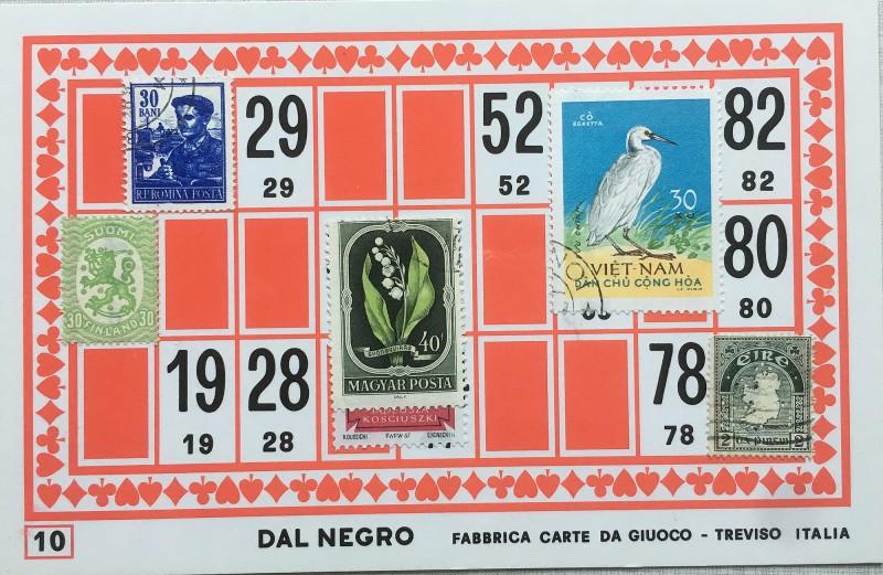 Mail Art Bingo No10 of 40 for KART assembling magazine running by David Dellafiora
