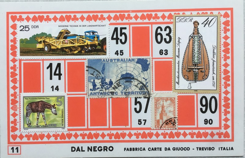 Mail Art Bingo No11 of 40 for KART assembling magazine running by David Dellafiora