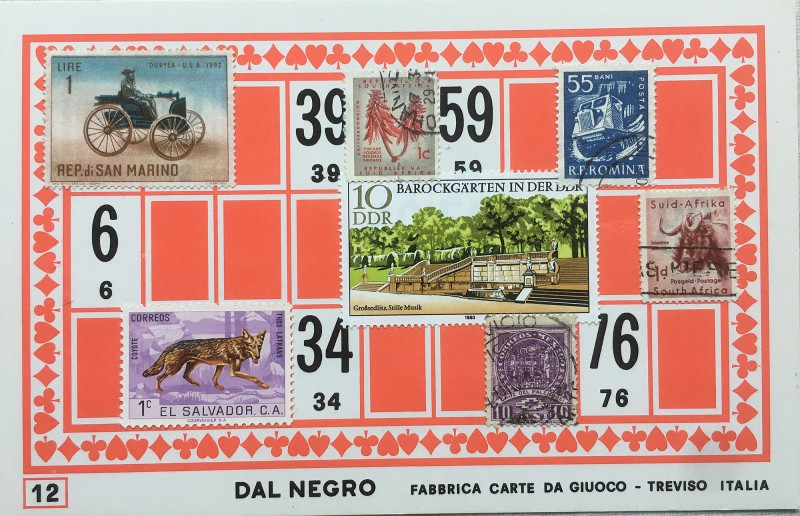 Mail Art Bingo No12 of 40 for KART assembling magazine running by David Dellafiora