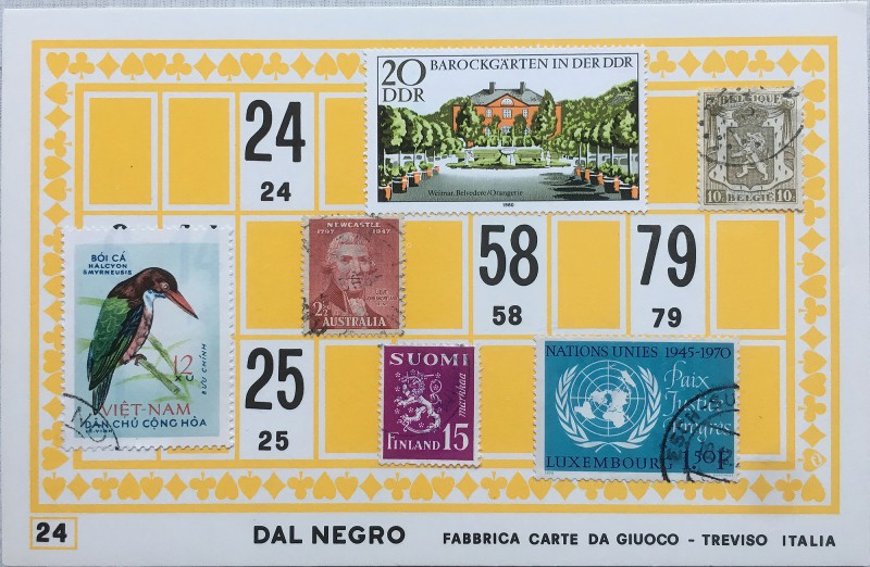 Mail Art Bingo No24 of 40 for KART assembling magazine running by David Dellafiora