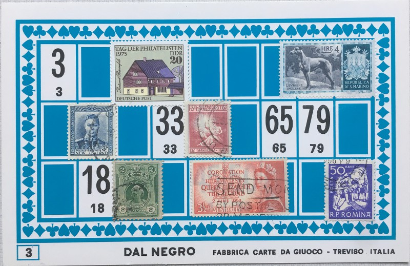 Mail Art Bingo No3 of 40 for KART assembling magazine running by David Dellafiora