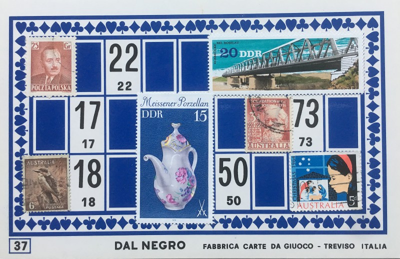 Mail Art Bingo No37 of 40 for KART assembling magazine running by David Dellafiora