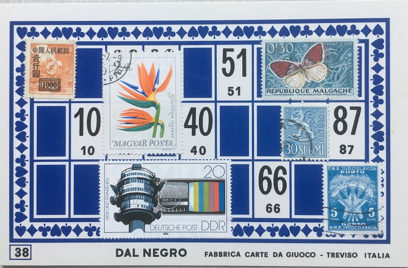 Mail Art Bingo No38 of 40 for KART assembling magazine running by David Dellafiora