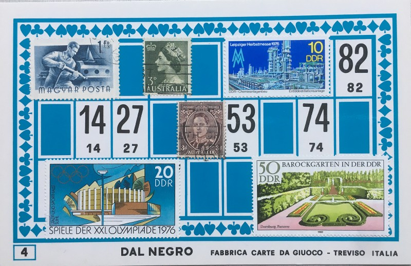 Mail Art Bingo No4 of 40 for KART assembling magazine running by David Dellafiora