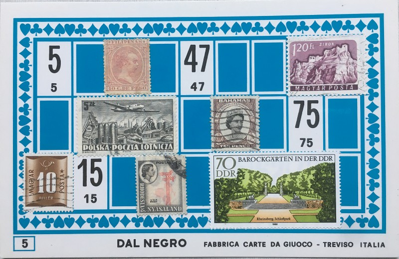 Mail Art Bingo No5 of 40 for KART assembling magazine running by David Dellafiora
