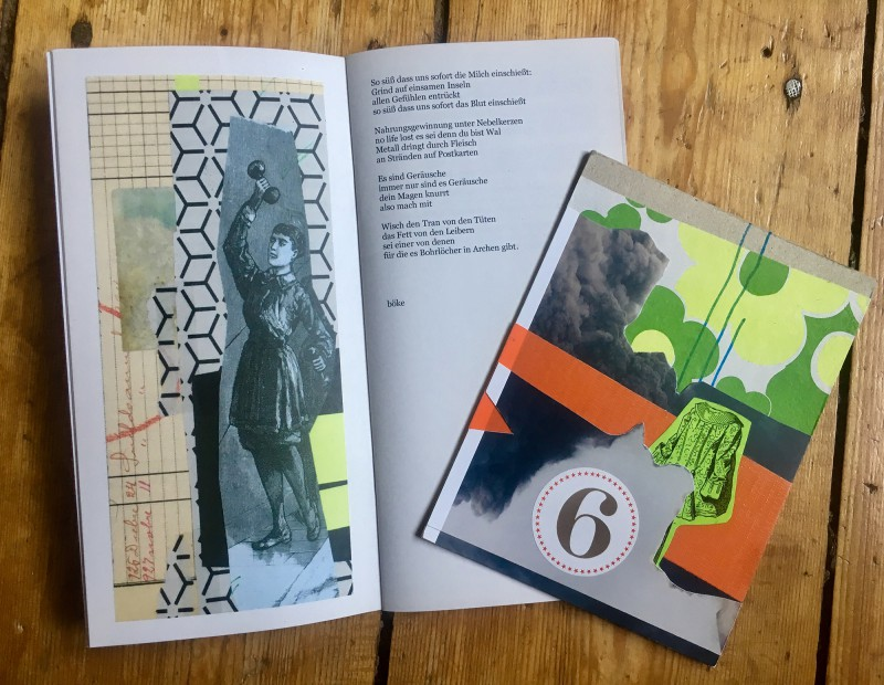 Traded with Stefan Heuer - original collage and poetry book (one double page)<br>Getauscht mit Stefan Heuer Original Collage und hier eine Doppelseite aus seinem Gedichtband