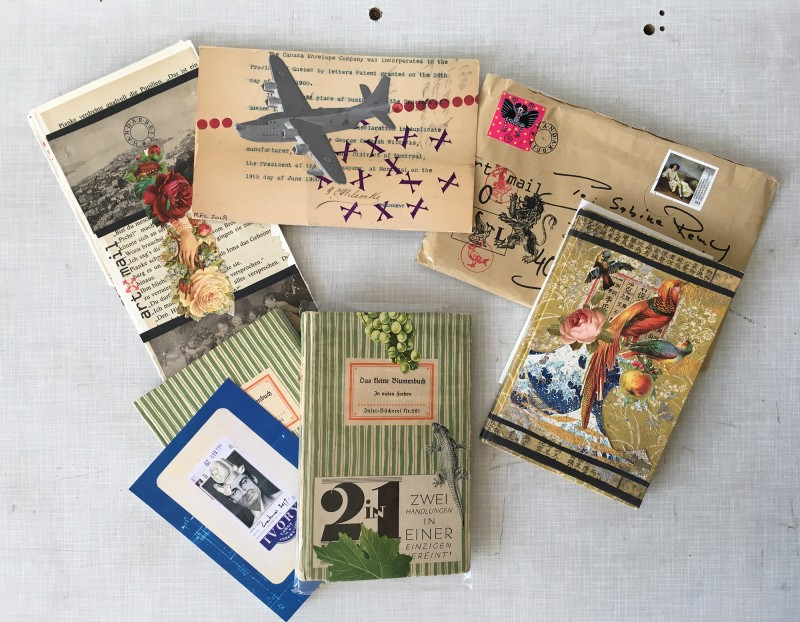 Mail Art from Susanna Lakner (Twin Books - more details coming soon), Petra Lorenz, (Art X Mail large scale starter and Twin Book - more details coming soon), RF Cote - more details coming soon