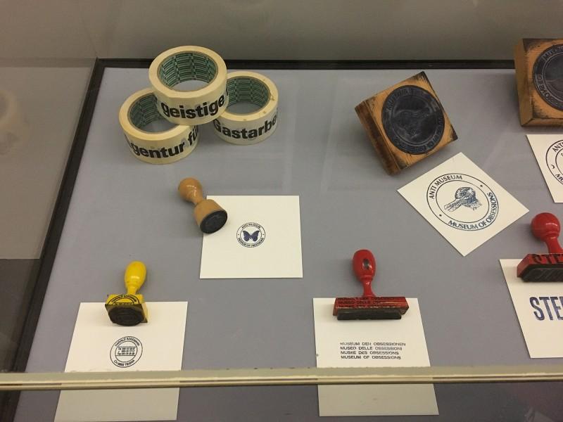 Harald Szeemann - Museum der Obsessionen - Kunsthalle Duesseldorf - Stempel und Paketklebeband ca 1969 - 1975