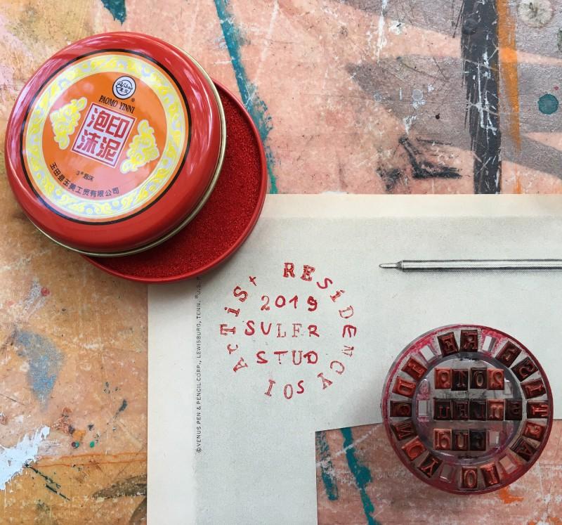 Stempel für die Artist Residency / Stamp for the residency