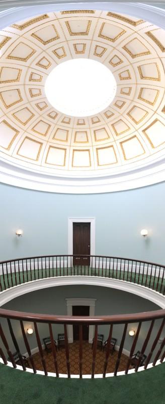 Old Governor s Mansion - Empfanhshalle - in Milledgeville