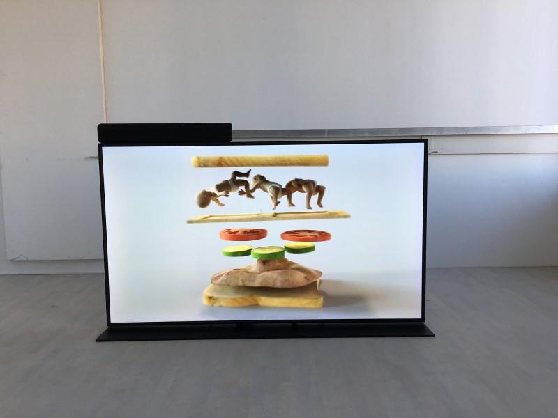 Ed Atkins - Ye Olde Food - im K21 - Old Food - video work