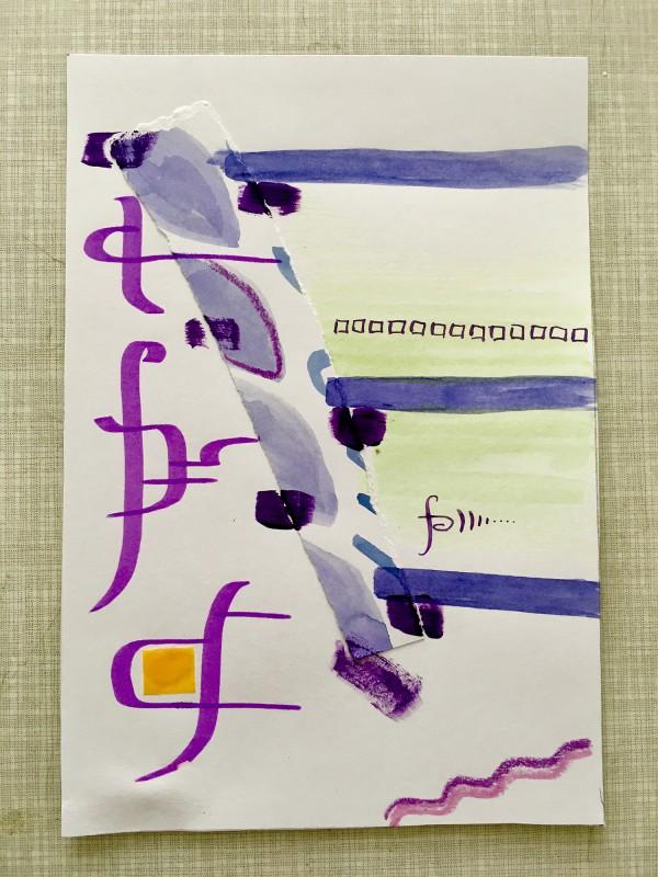 Attic Zine No4 - Purple - Aaron Jesko