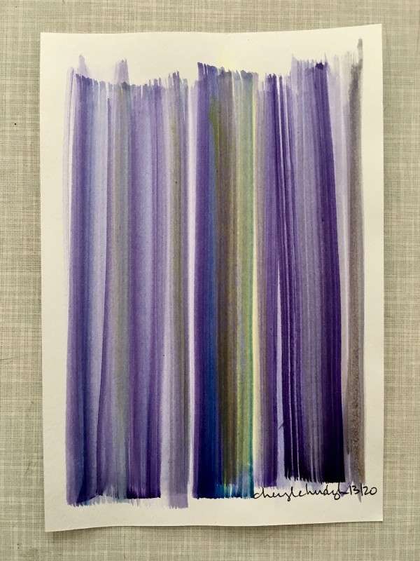 Attic Zine No4 - Purple - Cheryl Chudyk