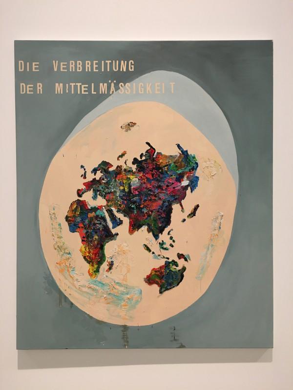 Martin Kippenberger - Bitteschön Dankeschön - Eine Retrospektive -Bundeskunsthalle Bonn 2019 - Political corect IV (Die Verbreitung der Mittelmäßigkeit) - Political Corect IV (Dissemination of Mediocrity) - 1994
