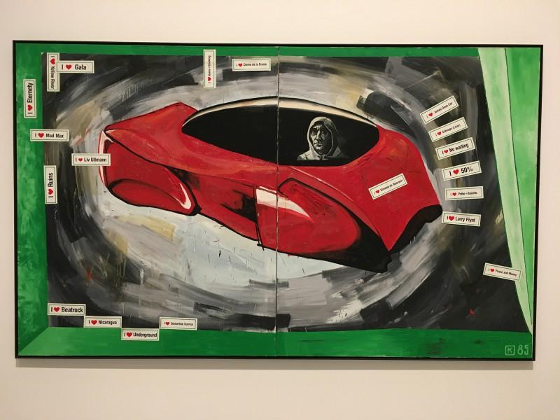 Martin Kippenberger - Bitteschön Dankeschön - Eine Retrospektive -Bundeskunsthalle Bonn 2019 - The Capitalistic Futuristic Painter in His Car - 1985