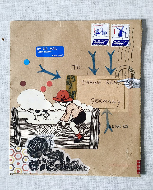 INcoming Mail Art from Reina Huges - March 2020- 2