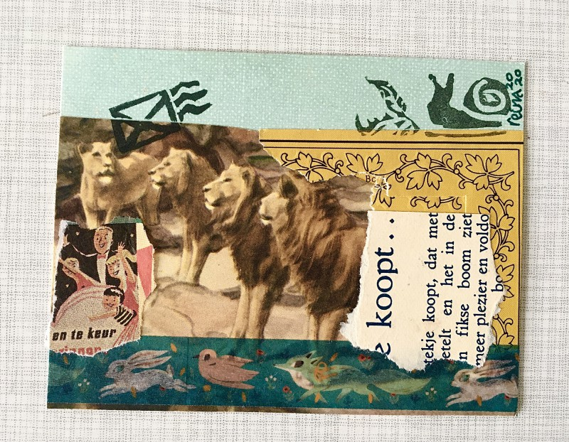 INcoming Mail Art from Reina Huges - March 2020- 4