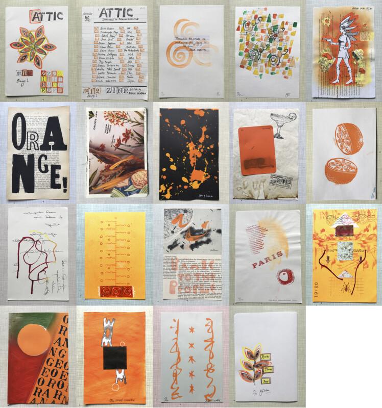 ATTIC ZINE NO 12 Orange 1 - all together / alle zusammen