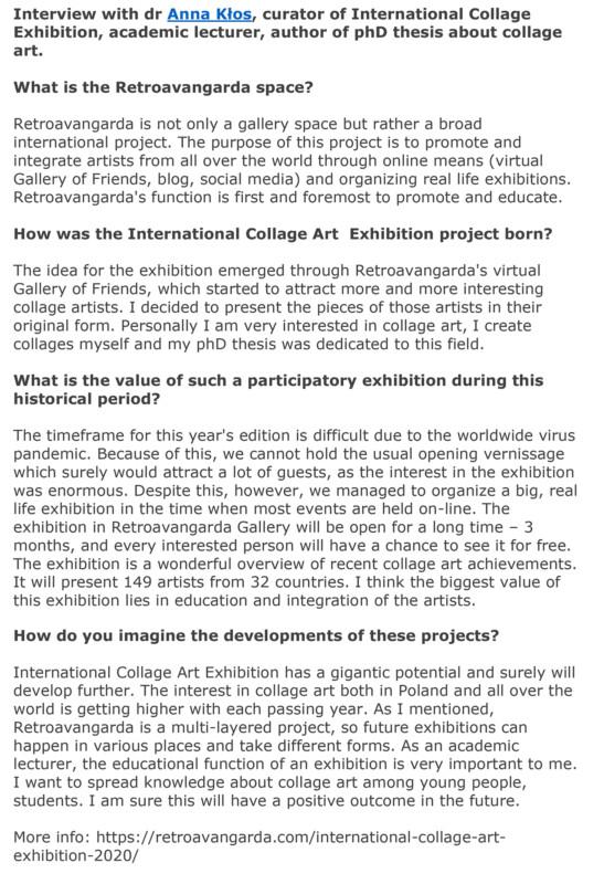 International Collage Art Exhibition 2020 -Retroavangarda- 13