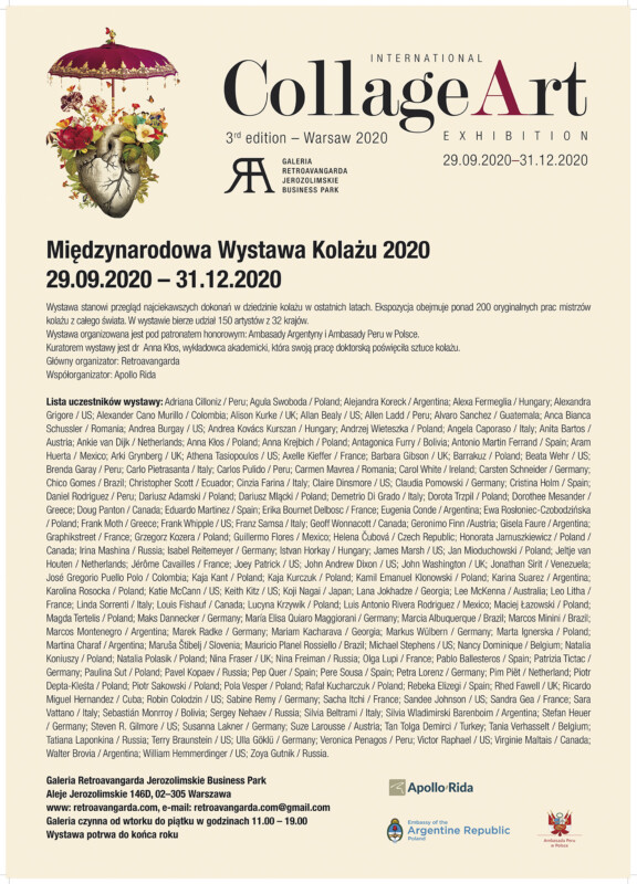 International Collage Art Exhibition 2020 -Retroavangarda- all participants