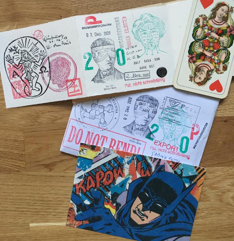 Incoming Mail Art January 2021 Geronimo Finn