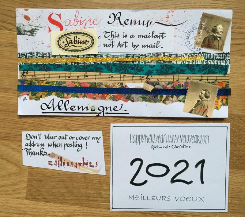Incoming Mail Art January 2021 - Richard Baudet