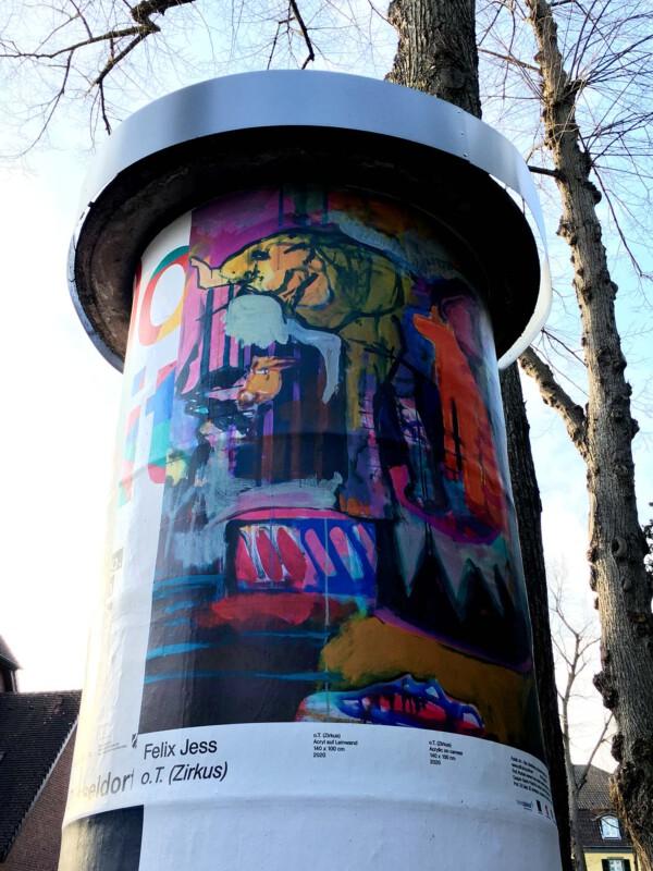 Public Art - Litfasssäule als Massenmedium - Felix Jess - o.T. (Zirkus)