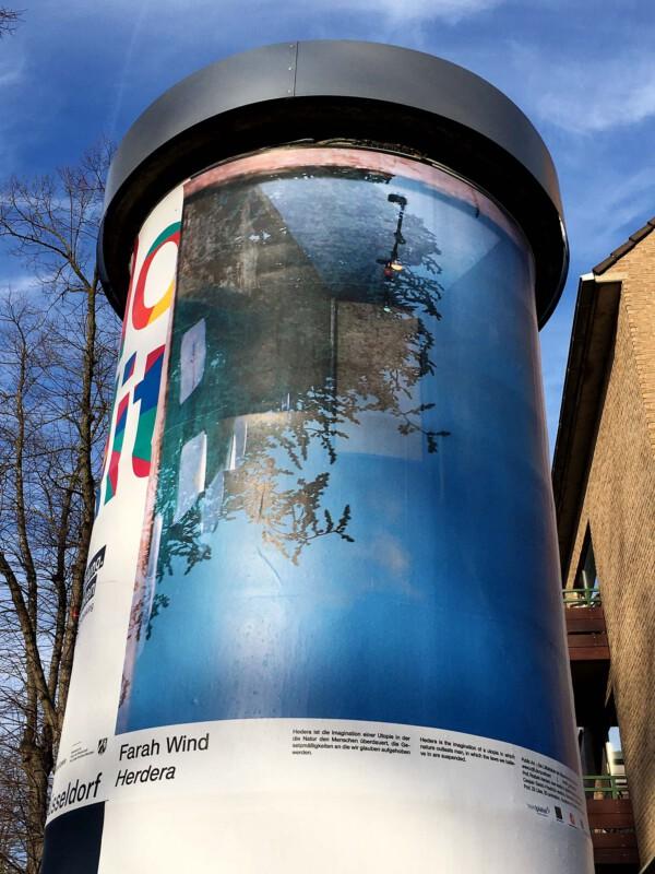 Public Art - Litfasssäule als Massenmedium - Farah Wind - Herdera