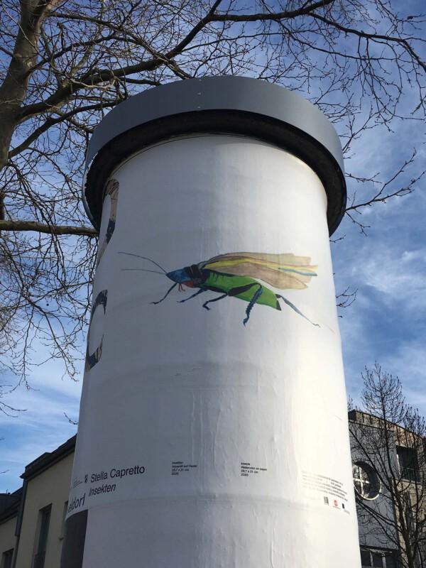 Public Art - Litfasssäule als Massenmedium - Stella Capretto - Insekten
