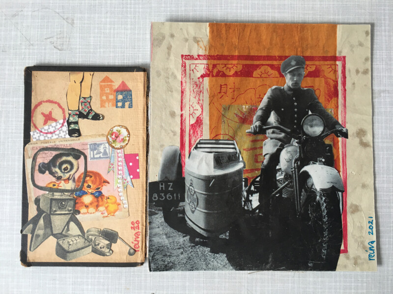 Incoming Reina Huges February 2021 -handmade collages