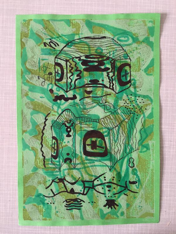 Attic Zine No 9 - Green 2 - Vitaly Maklakov
